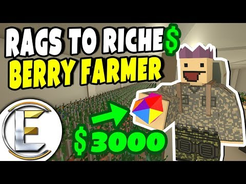 Farming Rainbow Berries | Unturned Roleplay (Rags to Riches #40)