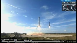 REPLAY - Falcon Heavy Side Cores Landing at SpaceX's Zones 1 and 2.