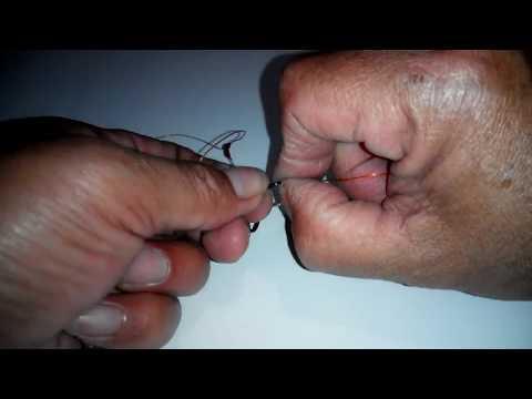 Membuat rangkaian 2 mata kail pancing DASARAN/GLOSOR | How to create 2 hooks for BOTTOM fishing rig