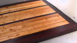 Man Cave Floor Board Install, Sand And Varnish. Part 7   First Coat Of Varnish