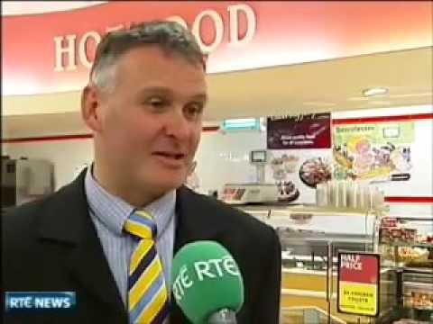 raging bull in a supermarket in ireland