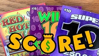 🤑 BIG HIT! Super + Wild + Hot = 4X WINS! ✪ TEXAS LOTTERY Scratch Off Tickets