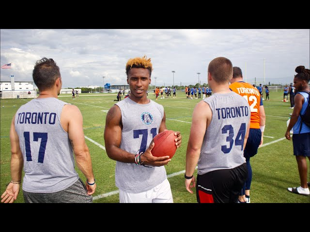 I TRIED OUT FOR A PRO FOOTBALL TEAM YESTERDAY..
