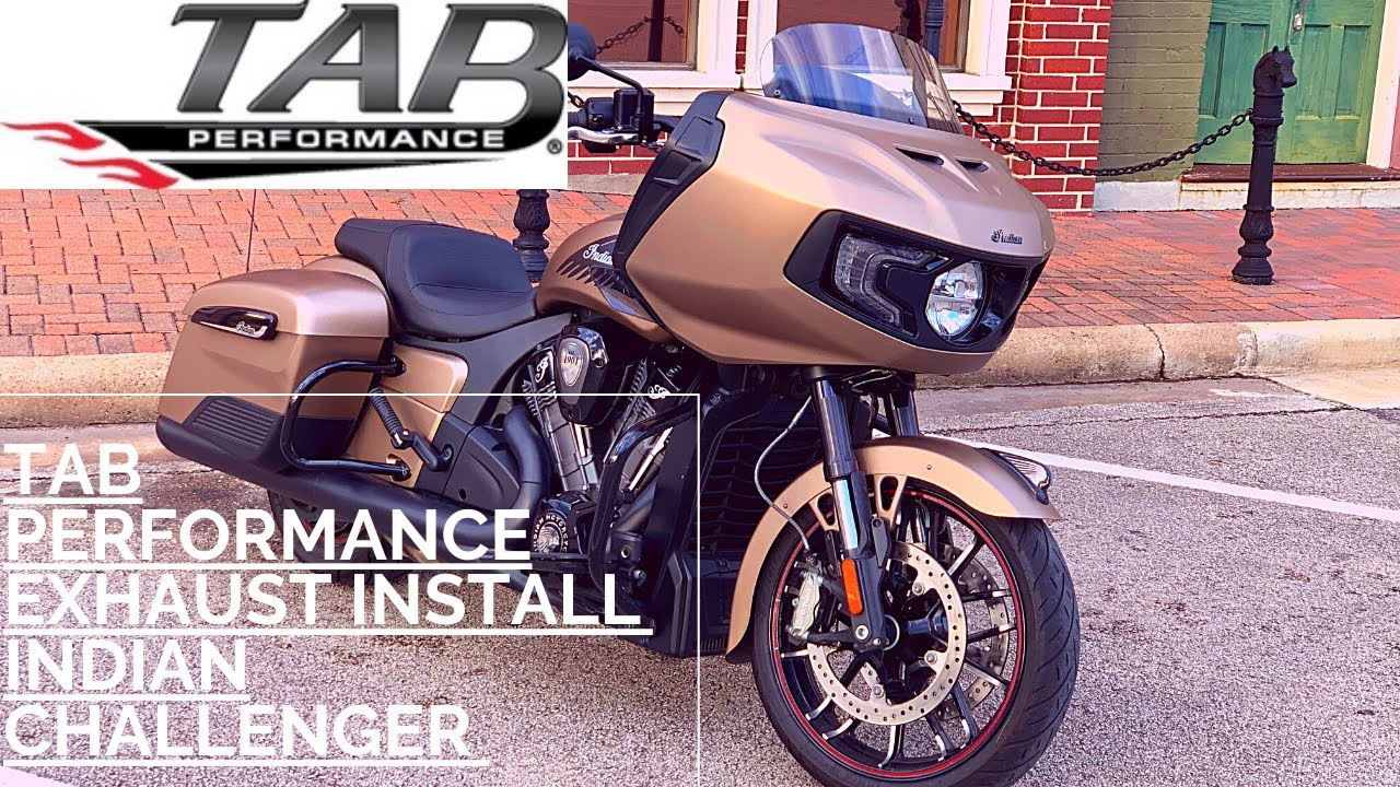 tab zombies exhaust install on the 2020 indian challenger