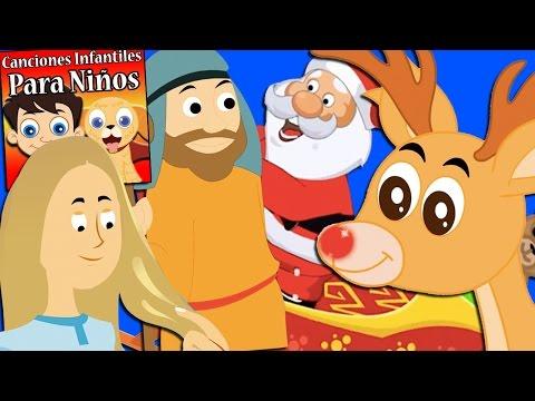 mix-canciones-navideñas-para-niños-|-rodolfo-el-reno-|-canciones-infantiles-para-niños