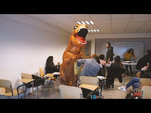 T-REX GIVING FREE CANDIES IN THE UNIVERSITY!!
