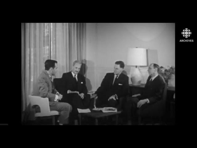 Entrevue avec la délégation du Québec à Paris en 1962