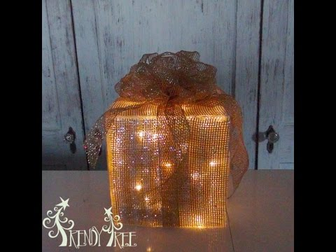 lighted christmas present tutorial by trendy tree - Lighted Christmas Presents