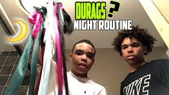 OUR NIGHT ROUTINE W/ LIL BRO!!! DURAG COLLECTION LOL!!!