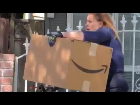 Woman Takes Off With Massive Package While Riding a Bicycle: Cops