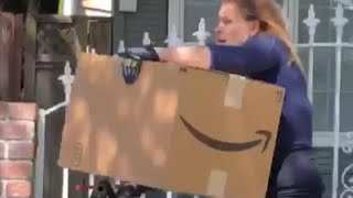 Woman Takes Off With Massive Package While Riding a Bicycle: Cops thumbnail