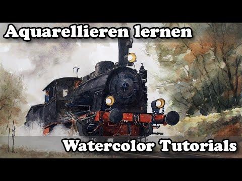 Aquarell_Tutorial Dampflok