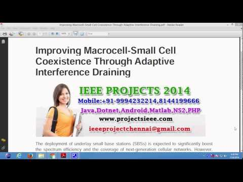 Improving Macrocell Small Cell Coexistence Through Adaptive Interference Draining