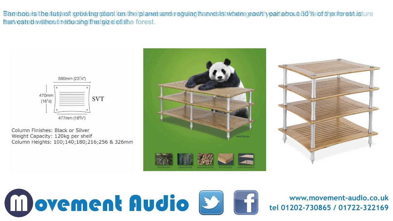 quadraspire svt bamboo hifi stand which is available from movement audio youtube. Black Bedroom Furniture Sets. Home Design Ideas