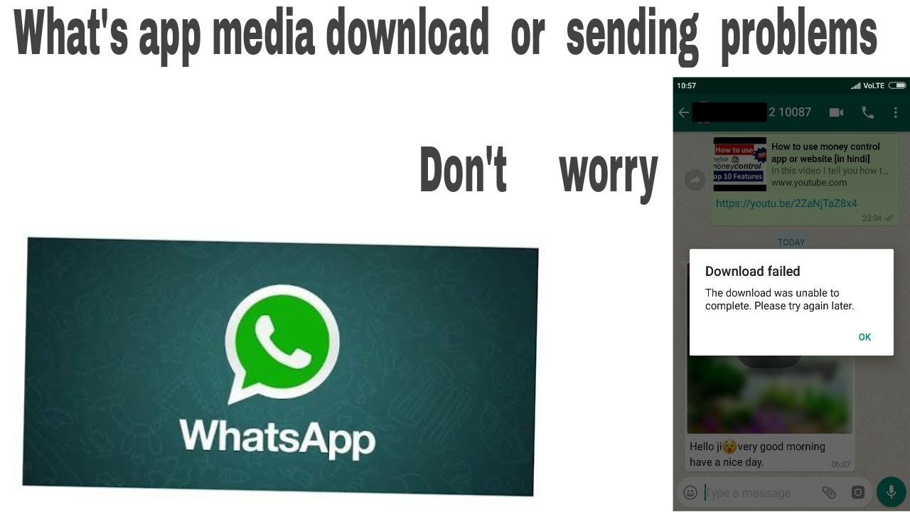 Fix Download failed||The download was unable to complete-WhatsappTutorial  [in hindi]