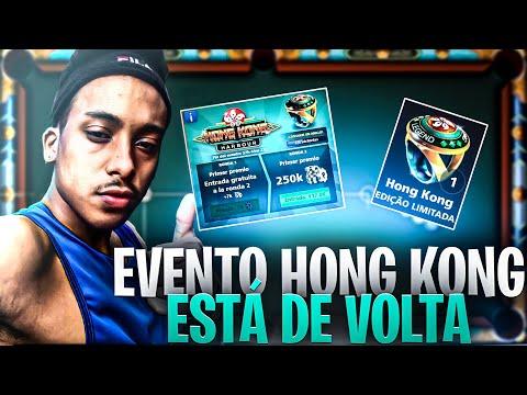INACREDITÁVEL! EVENTO HONG KONG ESTÁ VOLTANDO! (8 Ball Pool) Full HD
