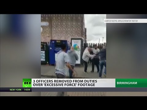Police officers removed after excessive force video