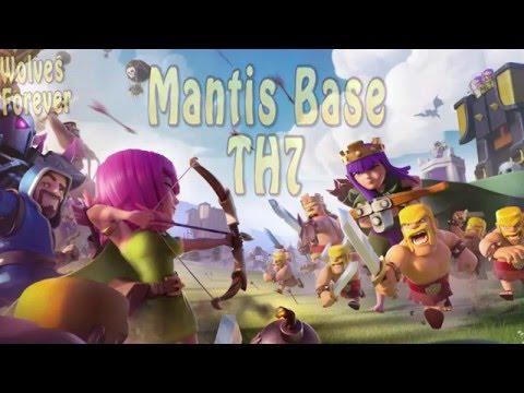 Mantis Base Th7 | Clash Of Clans