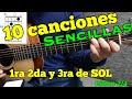 10 Canciones Sencillas en 1ra 2da y 3ra de SOL
