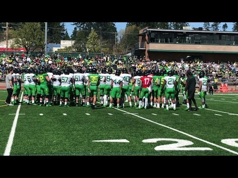 Sights and sounds from Oregon's spring football practice at Jesuit High School
