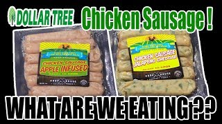 Dollar Tree Chicken Sausage YOU WON'T BELIEVE THESE! - WHAT ARE WE EATING?? - The Wolfe Pit