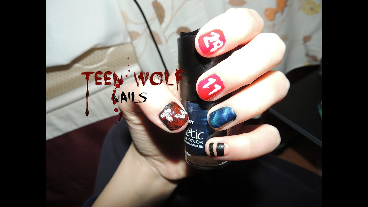Teen Wolf Inspired Nail\'s - YouTube