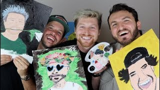PAINTING THE VLOG SQUAD! (w/ Zane & Heath)