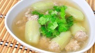 [thai Food] Cucumber Stuff With Pork Clear Soup (gang Jued Tang Gua Yud Sai Mu)