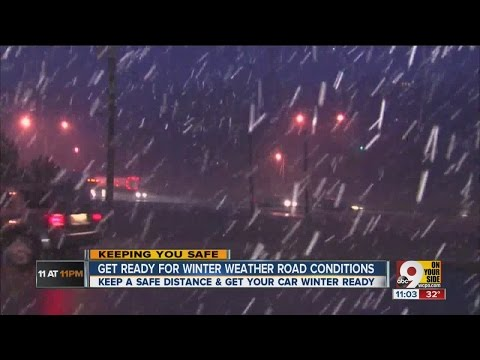 Get ready for winter weather road conditions