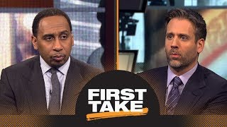 Stephen A. and Max debate whether Lakers made the right trade moves | First Take | ESPN thumbnail