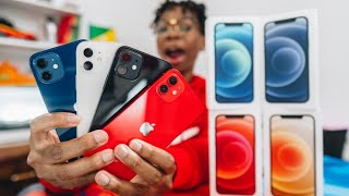 iPhone 12 Unboxing All Colors + Hands On (Color Comparison)