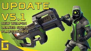 Fortnite | Update V5.1 | Compact SMG, Leaked Skins and Playgrounds