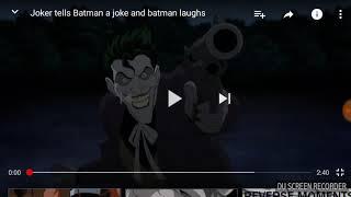 Jake reacts to:Joker tells batman a joke and batman laughs