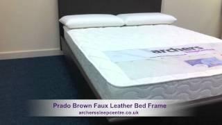Prado Brown Faux Leather Bed Frame