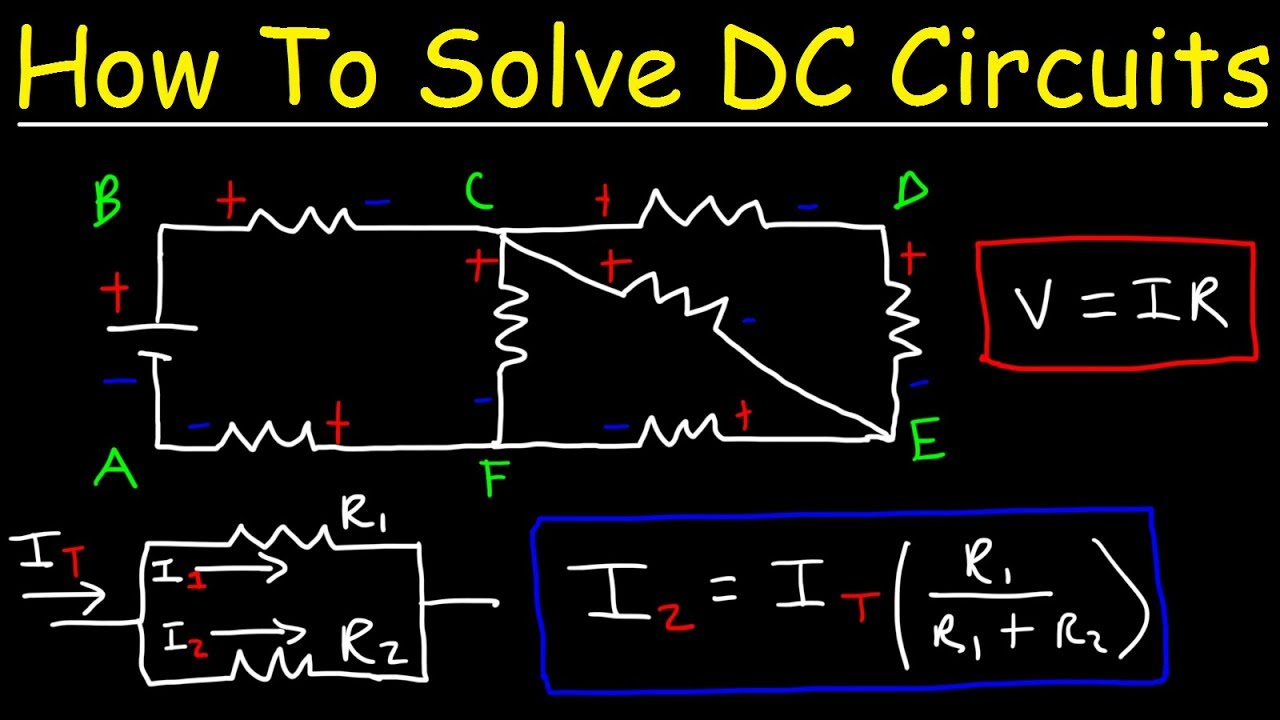 hight resolution of how to solve any resistors in series and parallel combination circuit problems in physics