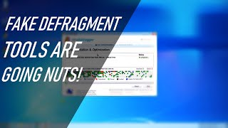 Watch out for fake Defragmentation tools