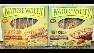 Nature Valley Nut Crisp Bars: Salted Caramel Peanut & Almond Dark Chocolate Review