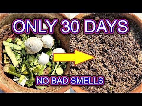 Make kitchen waste compost easily at home (English subtitles )