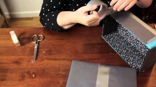 How To Make A Safe Or Chest Out Of A Shoe Box & Construction Paper : Cool & Functional Crafts