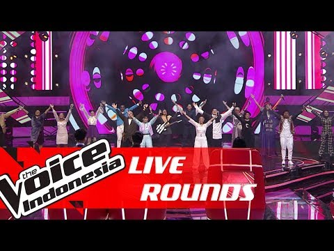 All Contestant Performances feat. Coaches | Live Rounds| The Voice Indonesia GTV 2019