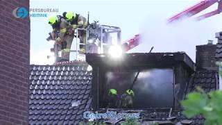 Uitslaande brand bij woning in Angeren