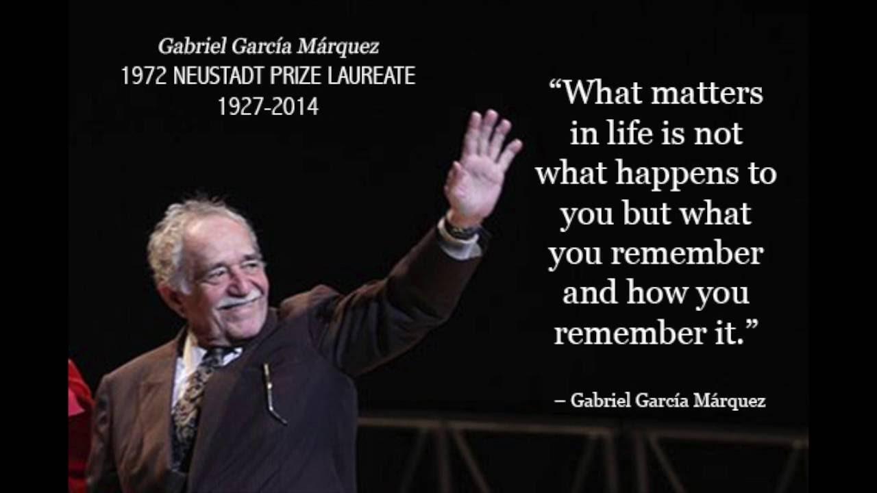 "Gabriel Garcia Marquez (Nobel Prize Speech): ""The Solitude"