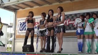 2012年8月25,26日に岡山国際サーキットで行われたスーパー耐久第4戦のギャルオンステージです。 8/25(土曜)の2/3.