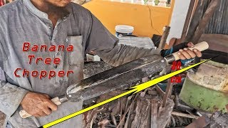 Making A Double-Bladed Knife For Home-Animal Raisers | Banana Tree Chopper