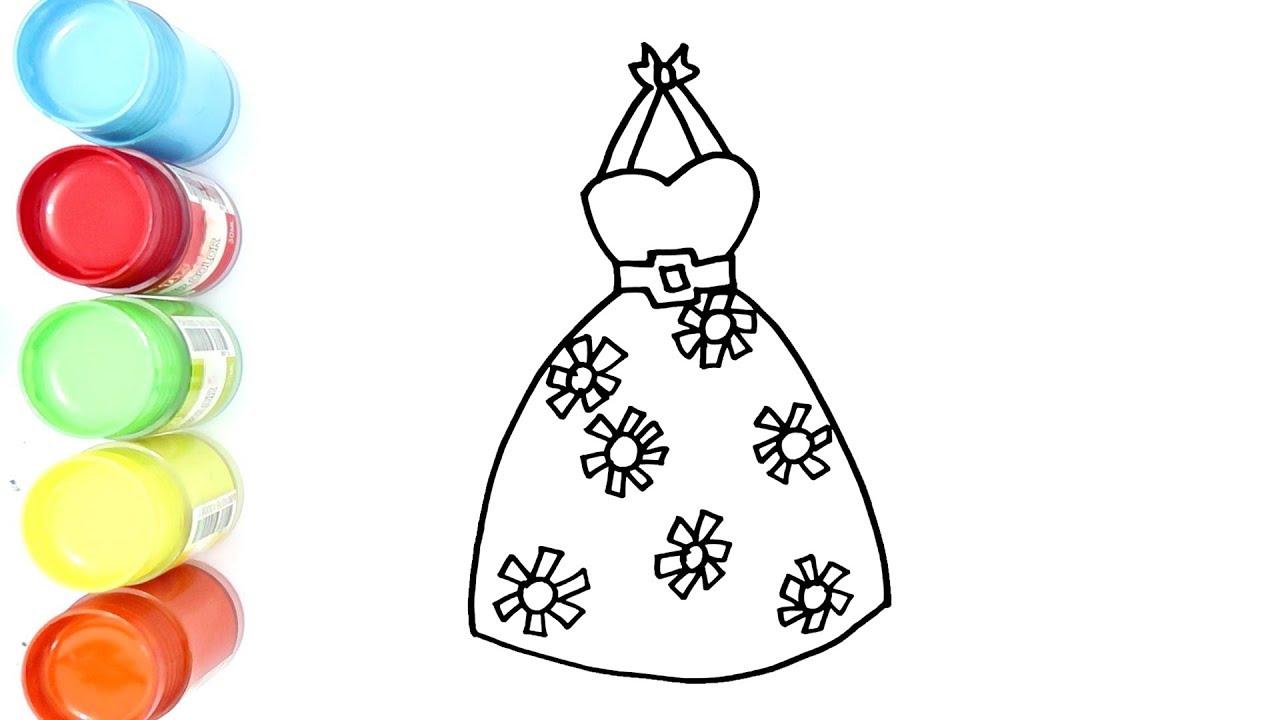 Cara Menggambar Dan Mewarnai Baju Pesta