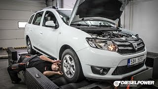 2016 Dacia Logan 0.9TCe LPG DYNO RUN by DIESELPOWER www.dp-race.com
