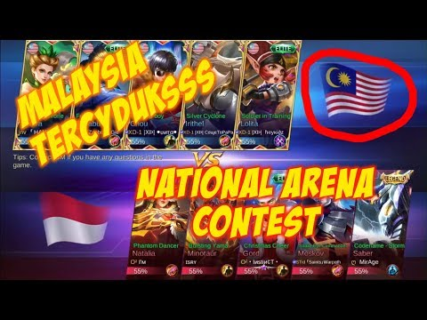 Malaysia Kualahan Lawan Indonesia - National Arena Contest mobile legends 27 08 2018