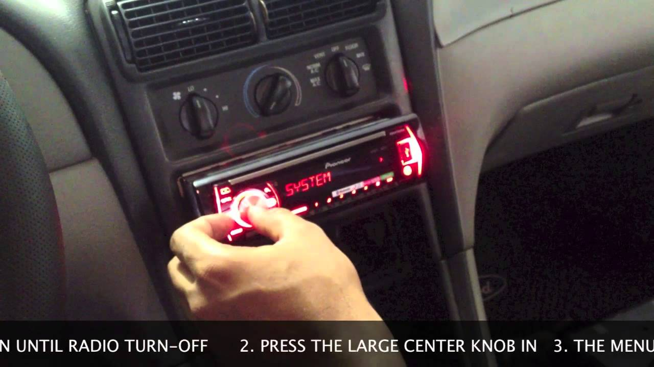 Stereo Wire Diagram How To Set Clock On Pioneer Car Radio Youtube