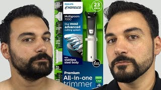 Beard Trimming - Philips Norelco Multigroom 7000 - Model MG7750