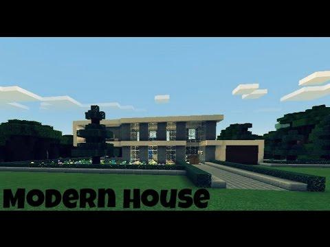 Modern house casa moderna for minecraft p e youtube for Casa moderna minecraft 0 11 1